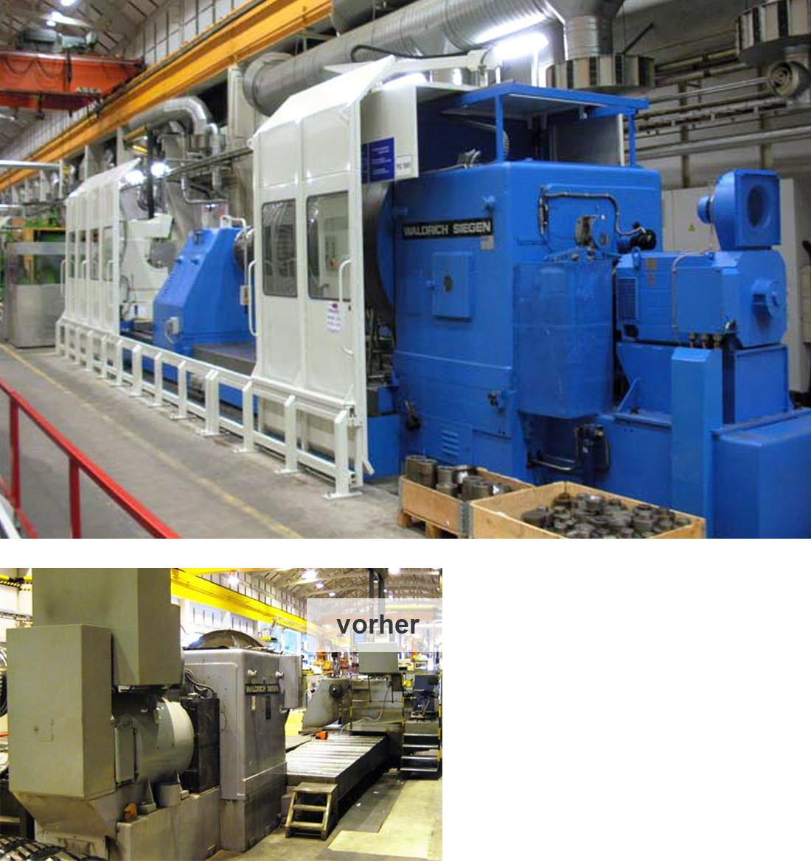 EDM Technik, Generalüberholung einer Standard-Werkzeugmaschine, Modernisierung einschließlich mechanischem Umbau