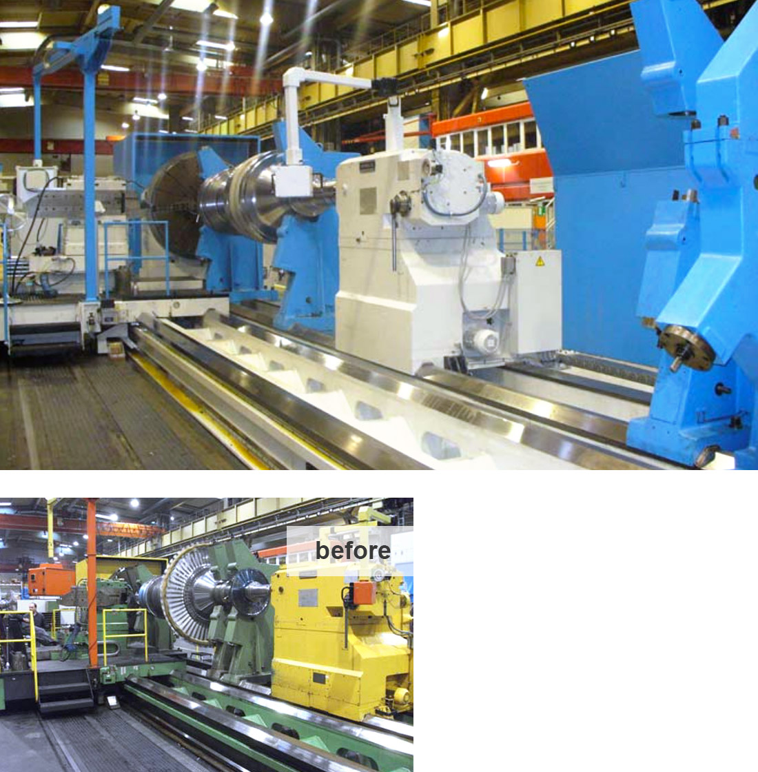 EDM Technik, Machine tool modernization, Modernization Heavy Duty Lathe, Dörries machine tool production